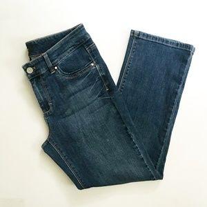 WHBM Crop Jeans 6 euc Denim Stretch Dark Ankle
